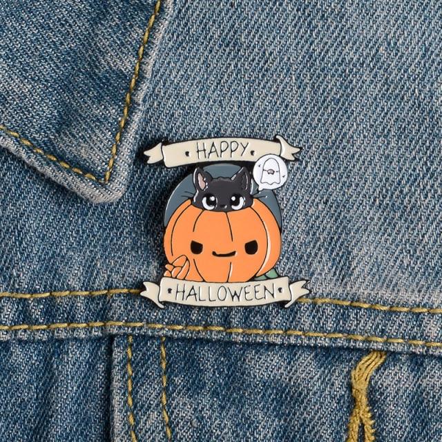 Happy Halloween - Kitty inside Pumpkin [1]