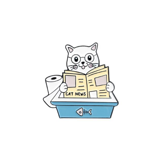 Kitty Reading the Paper [0]