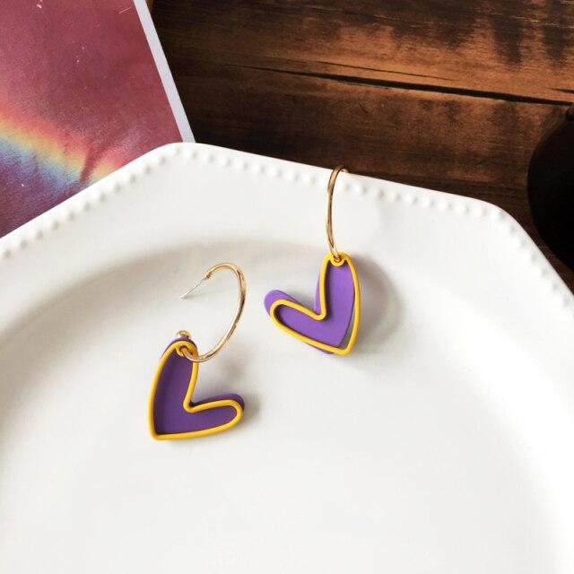 Love Purple Earrings [0]