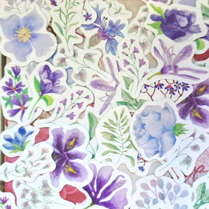 Set Purple Flowers [3]