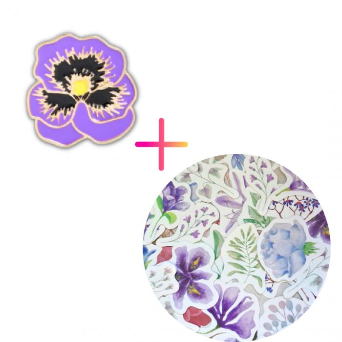 Set Purple Flowers [0]