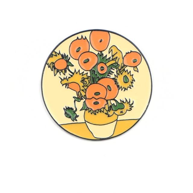 Insigna Van Gogh's Sunflowers [0]