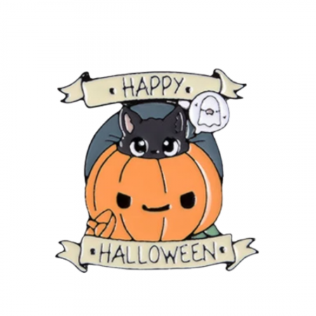 Happy Halloween - Kitty inside Pumpkin [0]