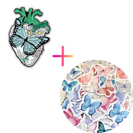Set Butterfly Heart [0]