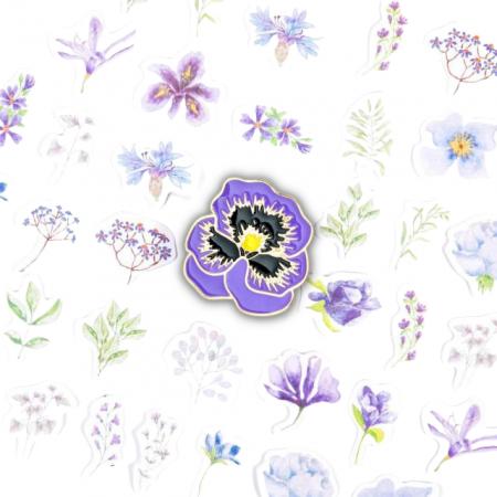 Set Purple Flowers [1]