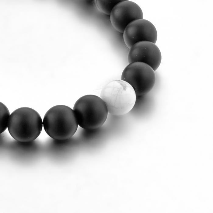 Set Bratari Perfect Balance+Colier White Howlite cu pietre semipretioase DRGSB032 - DarGEN 10