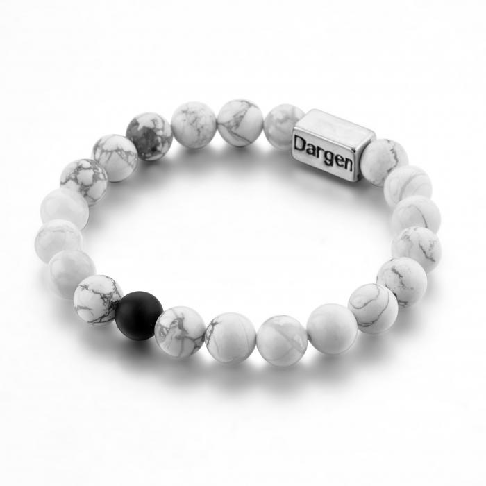 Set Bratari Perfect Balance+Colier White Howlite cu pietre semipretioase DRGSB032 - DarGEN 12