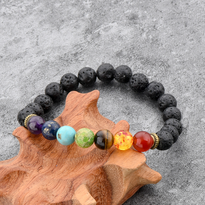 Set 2 Bratari Hematite Pearl+ Chakra din pietre semipretioase DarGen 5