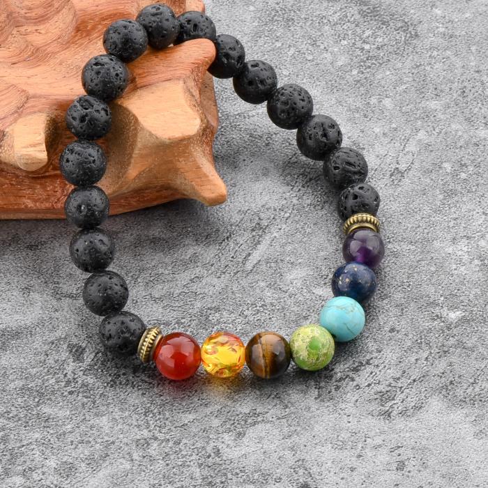 Set 2 Bratari Hematite Pearl+ Chakra din pietre semipretioase DarGen 6
