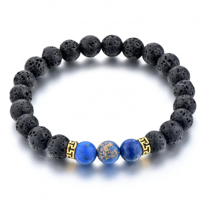 Set 2 Bratari Blue Emperor+ Chakra din pietre semipretioase DarGen 8