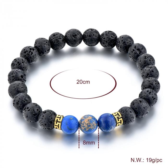 Set 2 Bratari Blue Emperor+ Chakra din pietre semipretioase DarGen 9