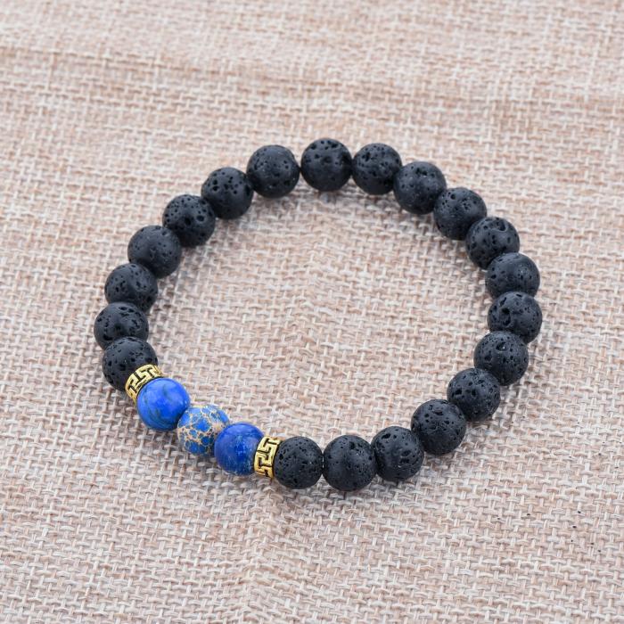 Set 2 Bratari Blue Emperor+ Chakra din pietre semipretioase DarGen 11