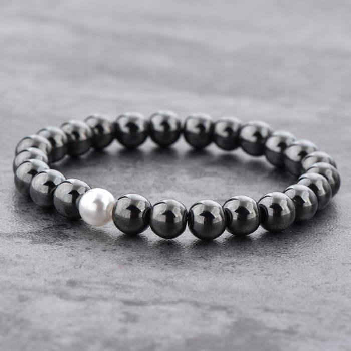 Set 2 Bratari Hematite Pearl+ Chakra din pietre semipretioase DarGen 9