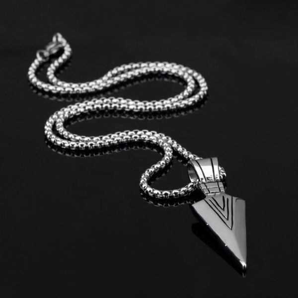 Lantisor cu Pandantiv Hudson Silver din otel inoxidabil DRGL0020 DarGen 1