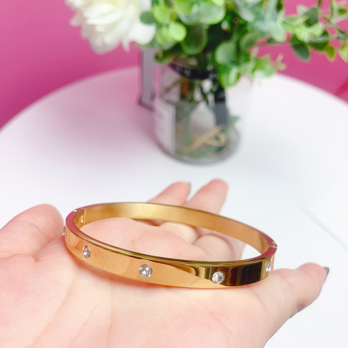 Bratara Adonia Rose Gold din otel inoxidabil si diamante CZ DRGB0150 DarGen 3