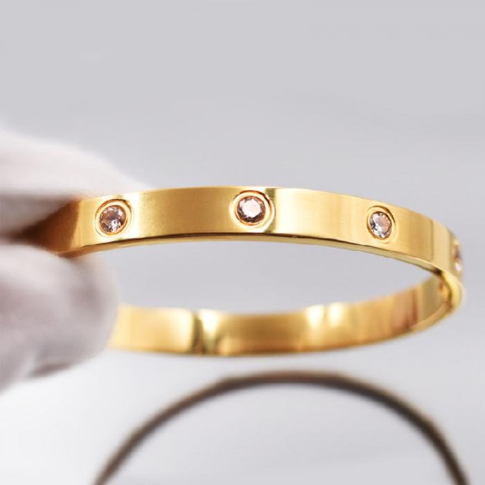 Bratara Adonia Rose Gold din otel inoxidabil si diamante CZ DRGB0150 DarGen 4