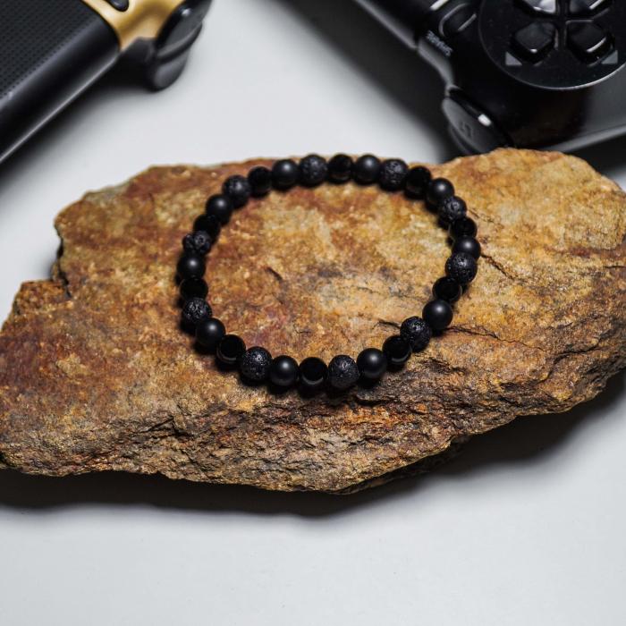 Bratara Black Onyx din pietre semipretioase 6 mm DRGB0062 DarGen 5