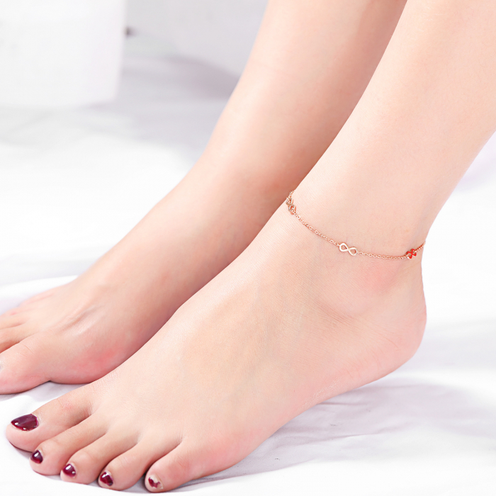 Bratara de picior Siempre din otel inoxidabil DRGP0012 DarGen [1]