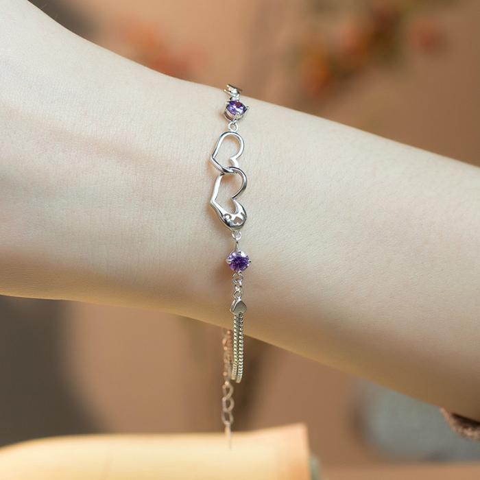 Bratara Mayfield Purple  din argint 925 si diamante CZ DRGB0081 DarGen 1