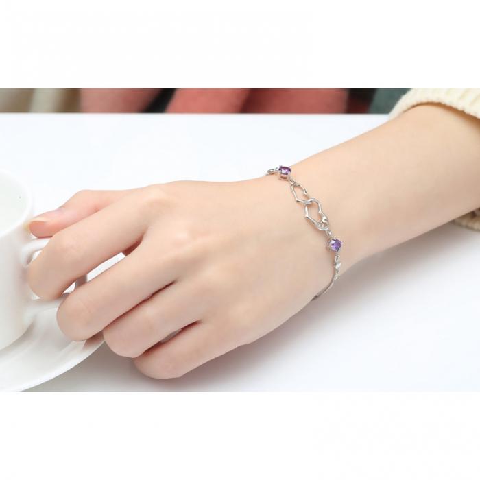 Bratara Mayfield Purple  din argint 925 si diamante CZ DRGB0081 DarGen 2