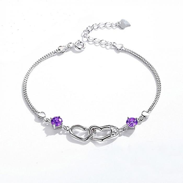 Bratara Mayfield Purple  din argint 925 si diamante CZ DRGB0081 DarGen [0]