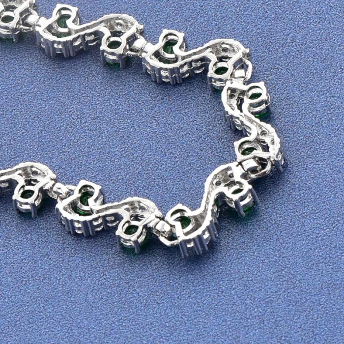 Bratara Melia Green din otel inoxidabil si diamante CZ DRGB0087 DarGen 3