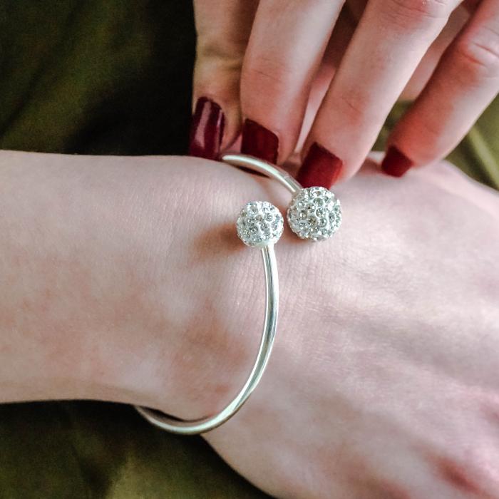 Bratara Nisa din argint 925 si diamante CZ DRGB0082 DarGen 1