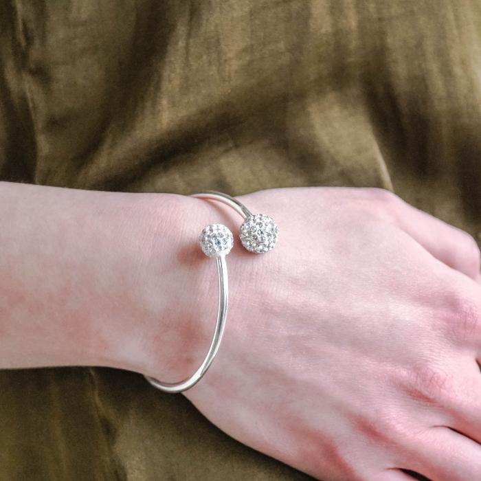 Bratara Nisa din argint 925 si diamante CZ DRGB0082 DarGen 2