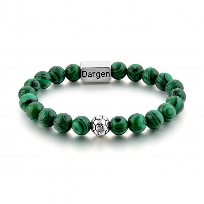 Set Bratara Rolan+Colier Green Agate cu pietre semipretioase  DRGSB030 - DarGEN 2