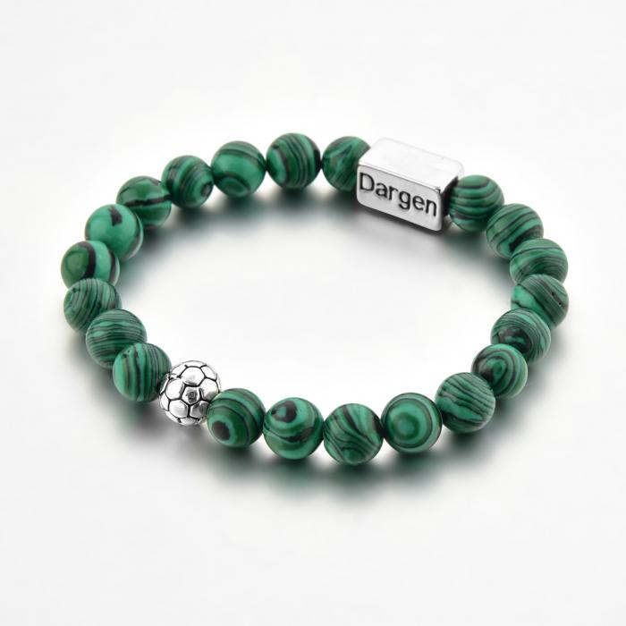 Set Bratara Rolan+Colier Green Agate cu pietre semipretioase  DRGSB030 - DarGEN 6