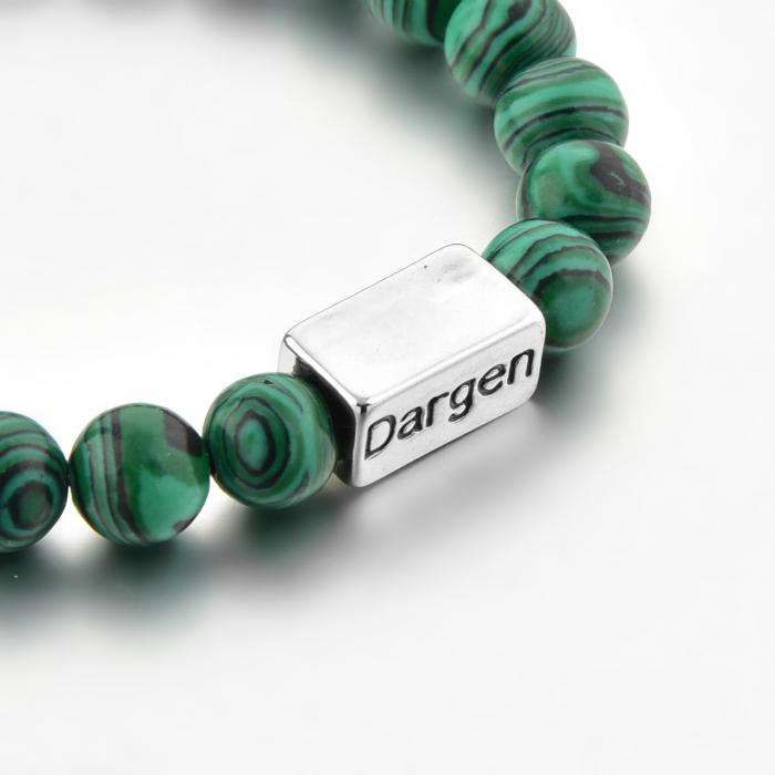 Set Bratara Rolan+Colier Green Agate cu pietre semipretioase  DRGSB030 - DarGEN 9