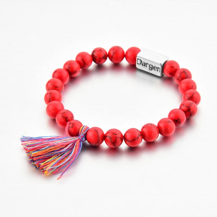 Bratara Shao Red din pietre semipretioase DRGB0106 DarGen 2