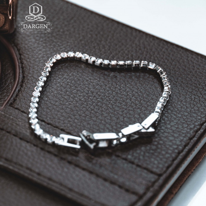 Bratara Tennis Alpine Silver din otel inoxidabil si diamante CZ DRGB0035 DarGen 5