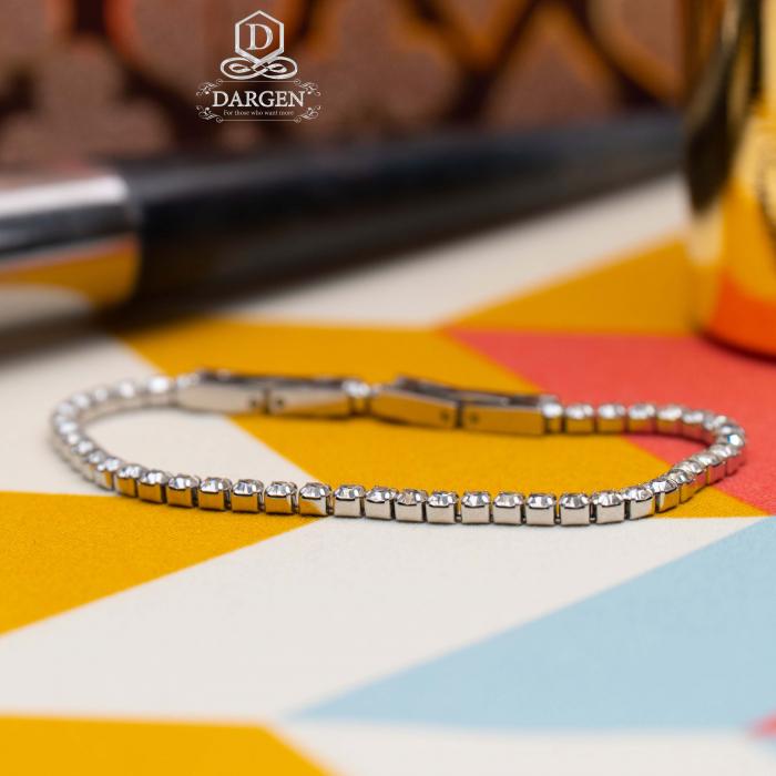 Bratara Tennis Alpine Silver din otel inoxidabil si diamante CZ DRGB0035 DarGen 7