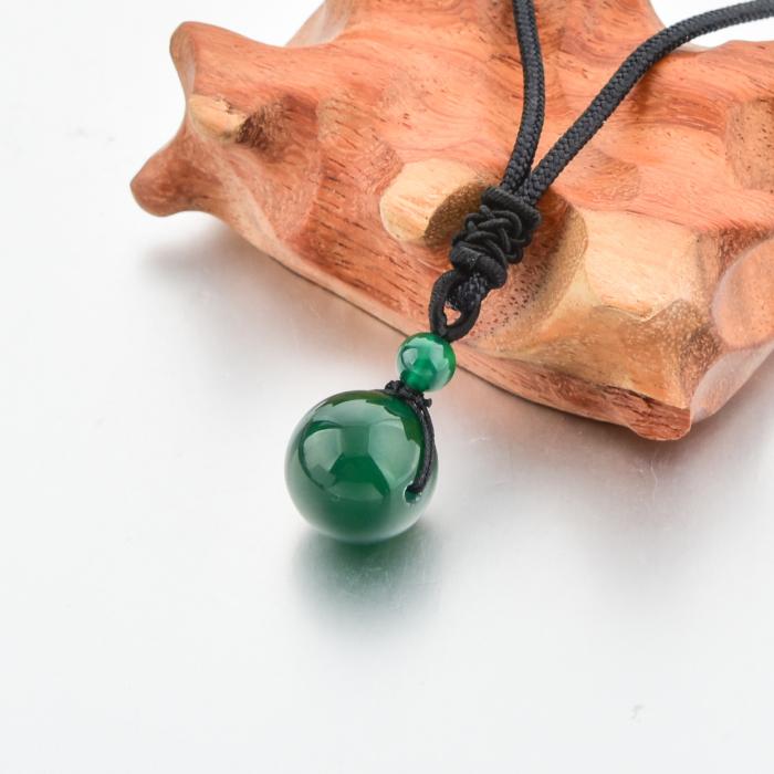 Set Bratara Rolan+Colier Green Agate cu pietre semipretioase  DRGSB030 - DarGEN 5