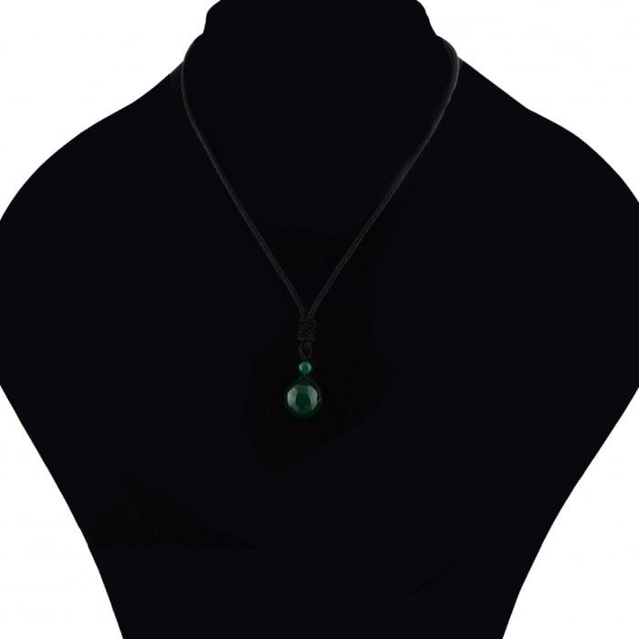 Set Bratara Rolan+Colier Green Agate cu pietre semipretioase  DRGSB030 - DarGEN 7