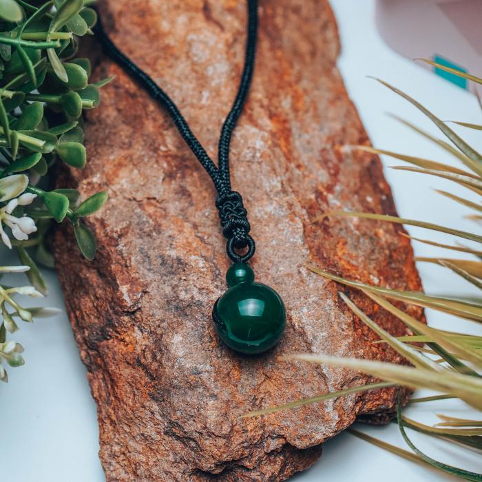 Colier Green Agate din pietre semipretioase DRGL0043 DarGen [7]