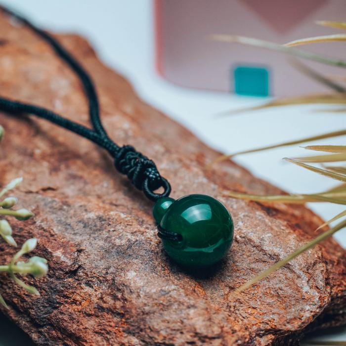 Colier Green Agate din pietre semipretioase DRGL0043 DarGen [6]