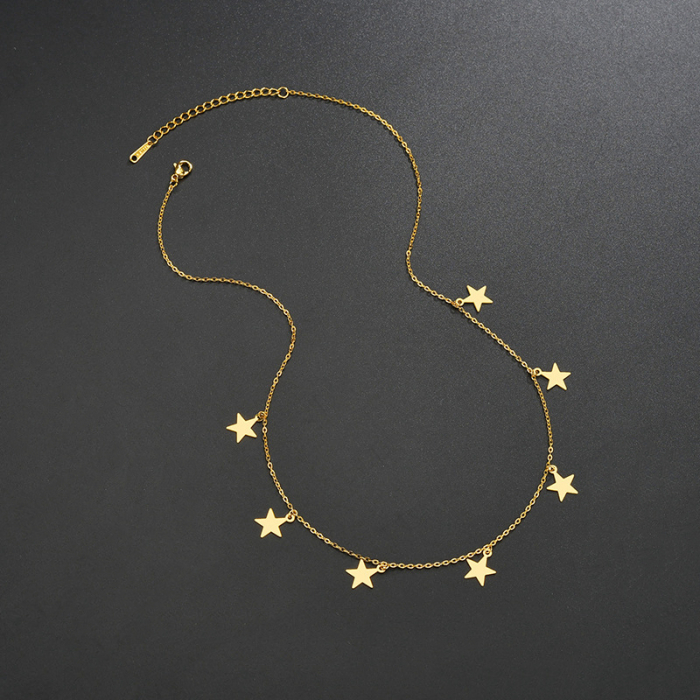 Colier Larnia Gold din otel inoxidabil DRGL0034 DarGen 3