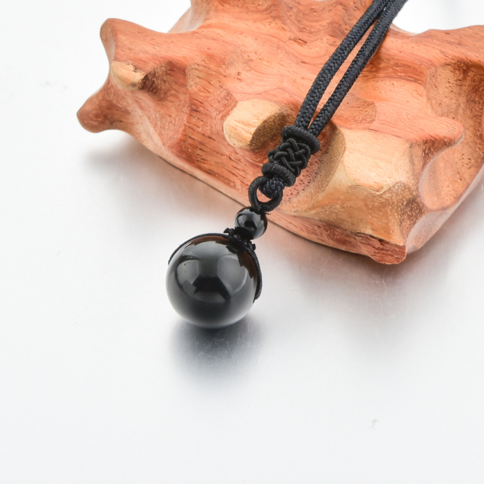 Set Bratara Black Onyx 8 mm+Colier Obsidian cu pietre semipretioase DRGSB034 - DarGEN 5