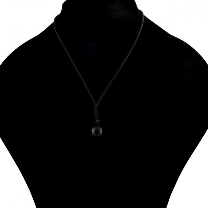 Set Bratara All Black+Colier Obsidian cu pietre semipretioase DRGSB033 - DarGEN 8
