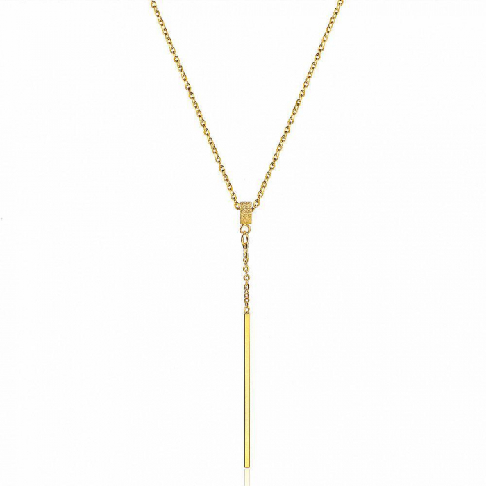 Lantisor cu Pandantiv Casidy Gold din otel inoxidabil DRGL0038 DarGen 0