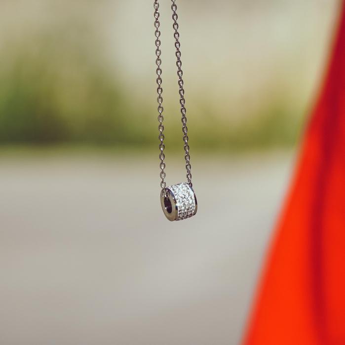 Lantisor cu Pandantiv French din otel inoxidabil si diamante CZ DRGL0029 DarGen 2