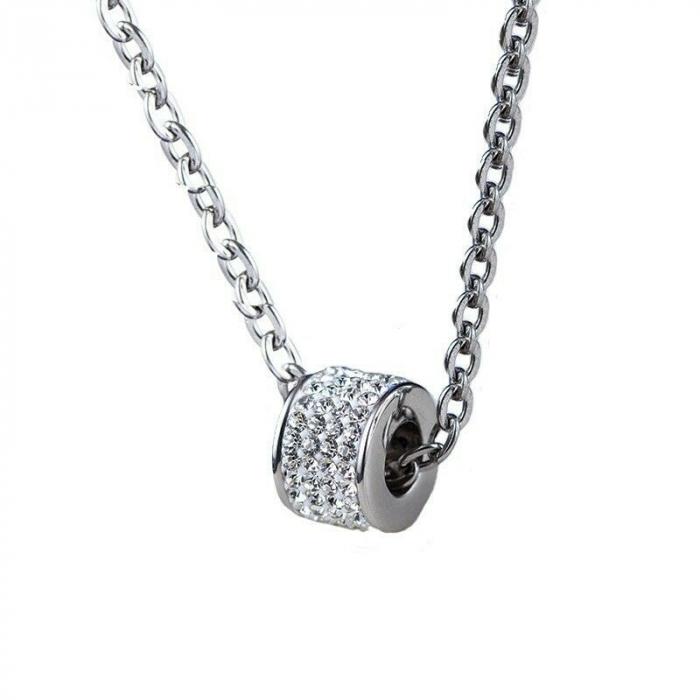 Lantisor cu Pandantiv French din otel inoxidabil si diamante CZ DRGL0029 DarGen 0