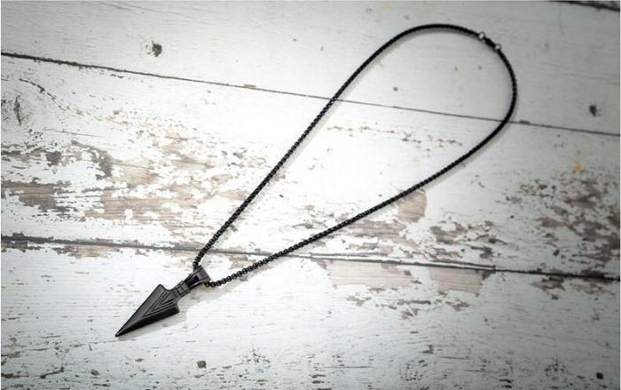 Lantisor cu Pandantiv Hudson Black din otel inoxidabil DRGL0012 DarGen [10]