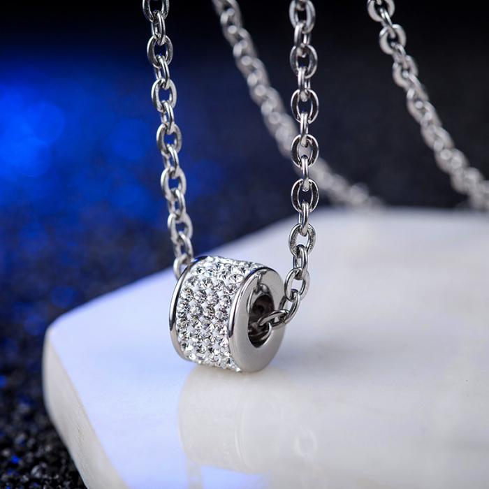Lantisor cu Pandantiv French din otel inoxidabil si diamante CZ DRGL0029 DarGen 12