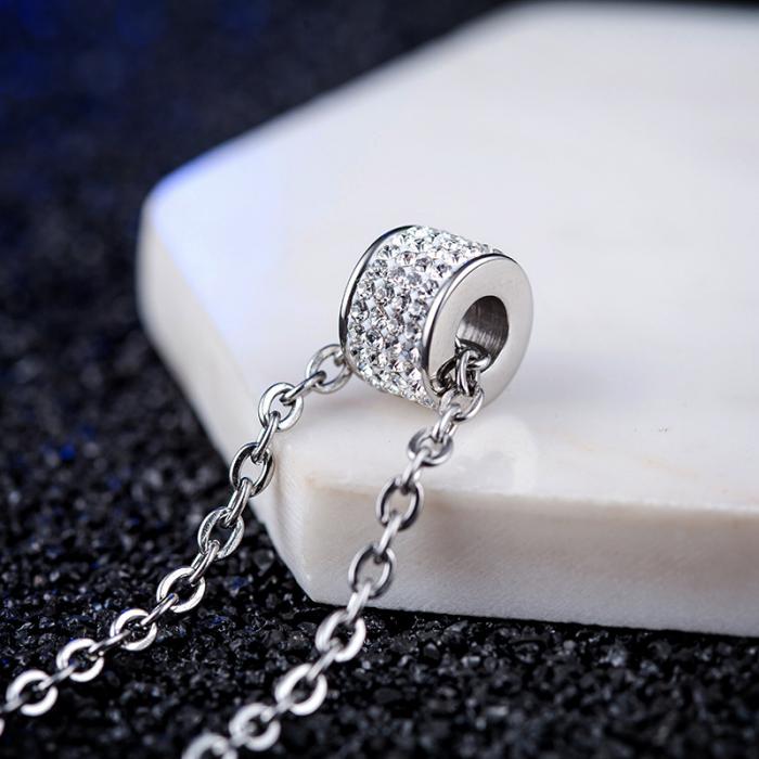 Lantisor cu Pandantiv French din otel inoxidabil si diamante CZ DRGL0029 DarGen 11