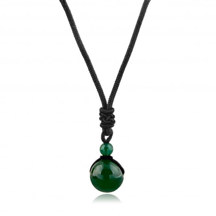 Set Bratara All Green+Colier Green Agate cu pietre semipretioase  DRGSB031 - DarGEN [2]