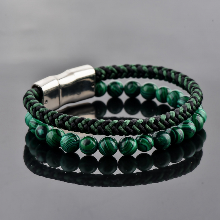 Set Bratara All Green+Colier Green Agate cu pietre semipretioase  DRGSB031 - DarGEN 3
