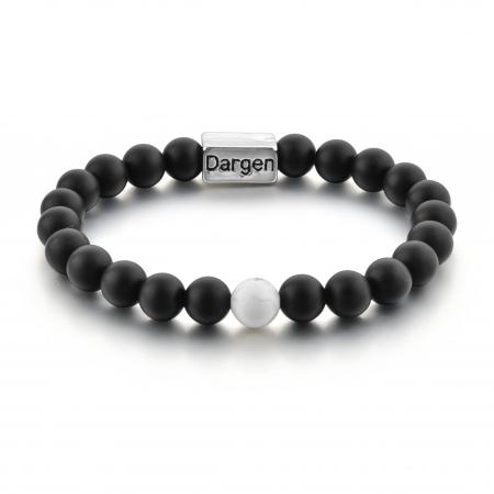 Set Bratari Perfect Balance+Colier White Howlite cu pietre semipretioase DRGSB032 - DarGEN2